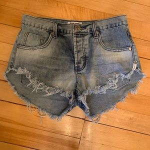 One Teaspoon Denim Cut Off Shorts